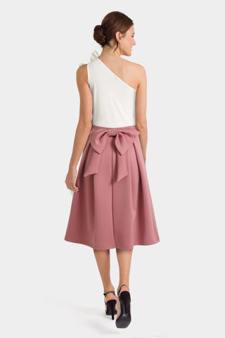 Off the Shoulder Ruffle Top & Pink Prom Skirt