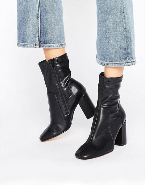 River Island Wide Fit Sock Boot