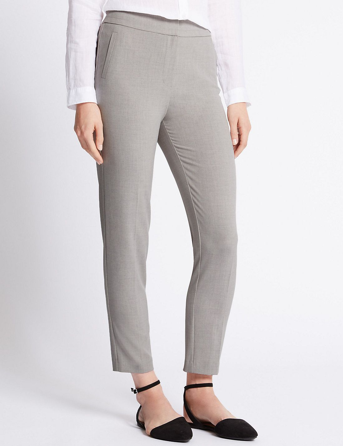 Stretch Tailored Fit Slim Leg Trousers