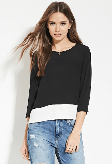 CONTEMPORARY LAYERED TOP