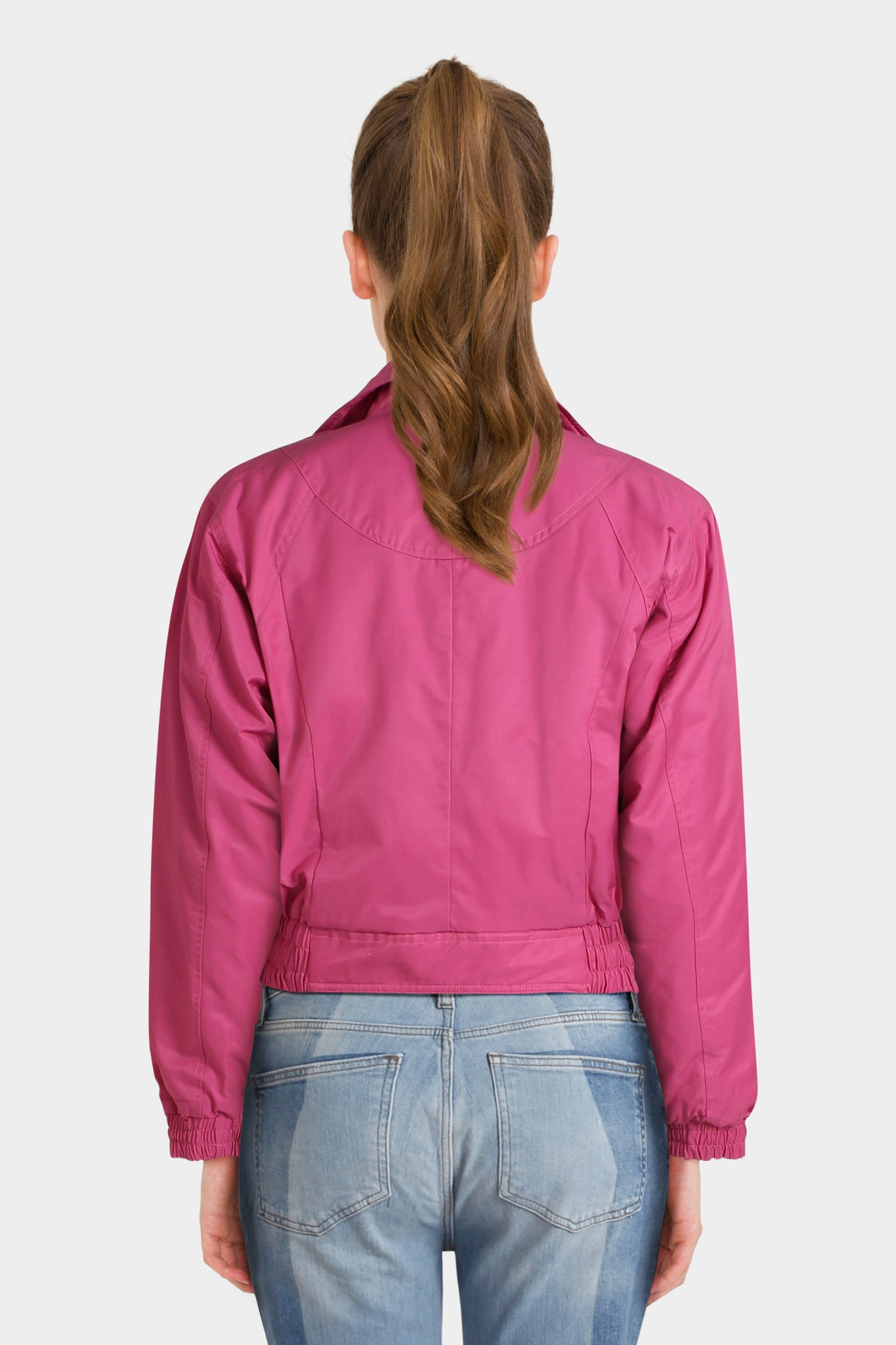 Asos 80S Bomber Jacket In Hot Pink