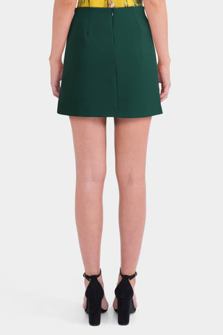 Asos Tailored Button Front Mini A-line Skirt