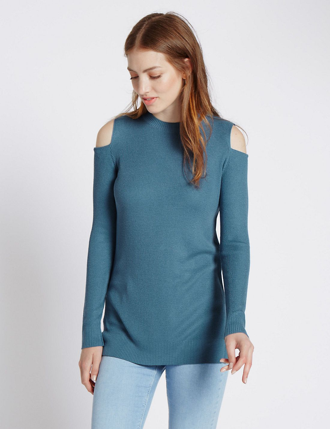 Cold Shoulder Pull on Jumper