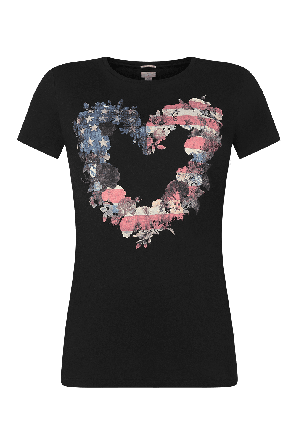DENIM & SUPPLY T-SHIRT WITH HEART PRINT