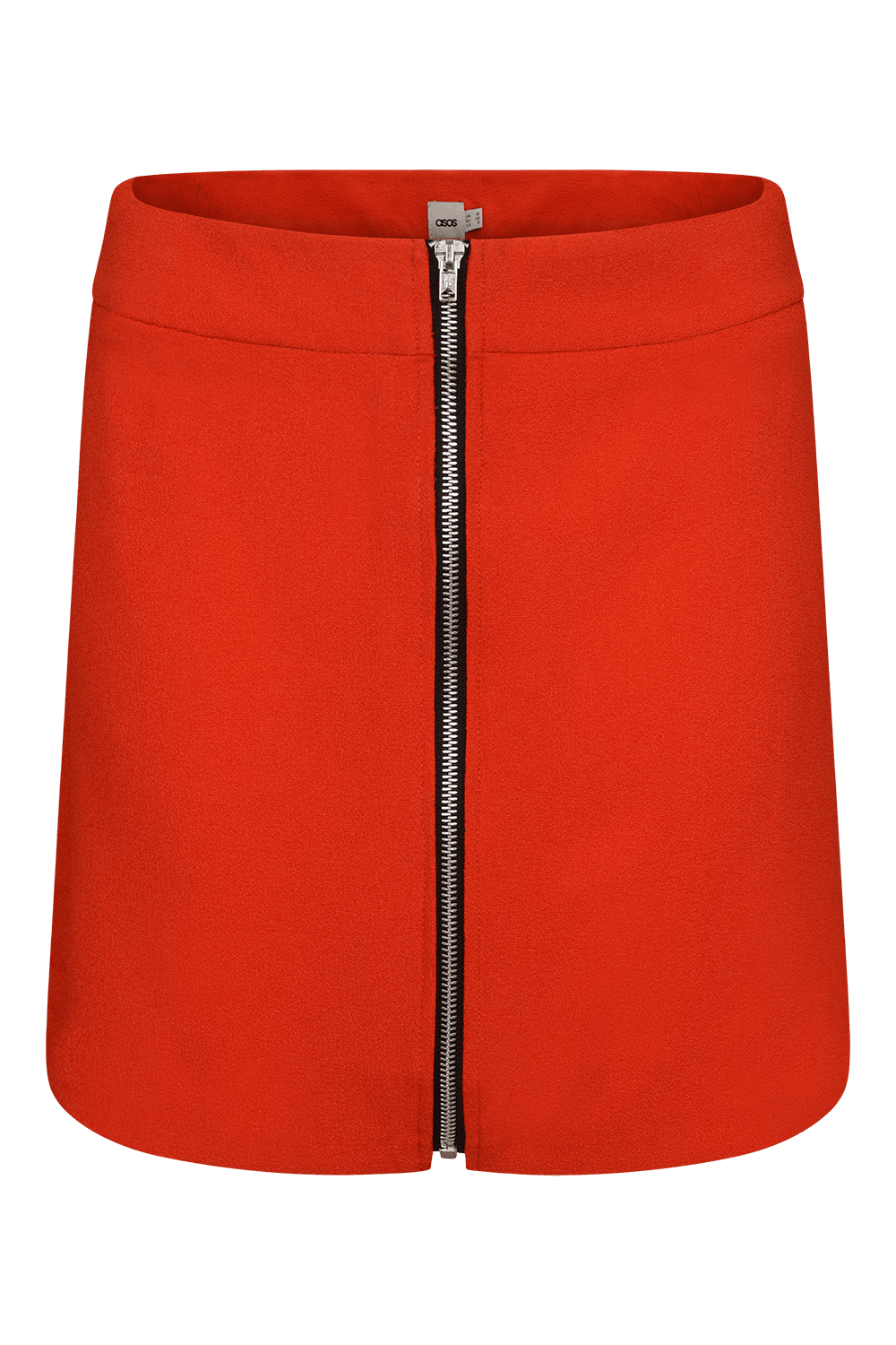 ASOS A-LINE MINI SKIRT WITH ZIP FRONT