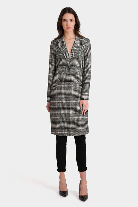 River Island Check Tailored Coat