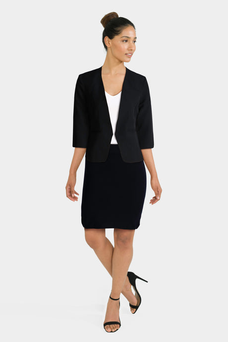 Black Blazer & Pencil Skirt