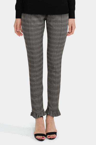 Bershka Dog Tooth Check Tailored Trousers