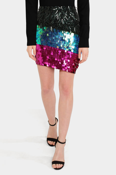 Asos Night Embellished Mini Skirt
