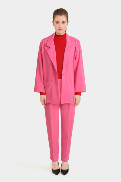 Monki Tailored Blazer with Slim Peg Trousers & Roll Neck Long Sleeve Top