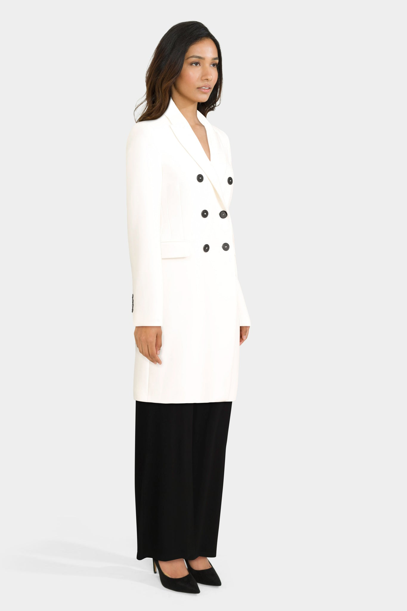 Tailored Coat With Wide Leg Trousers