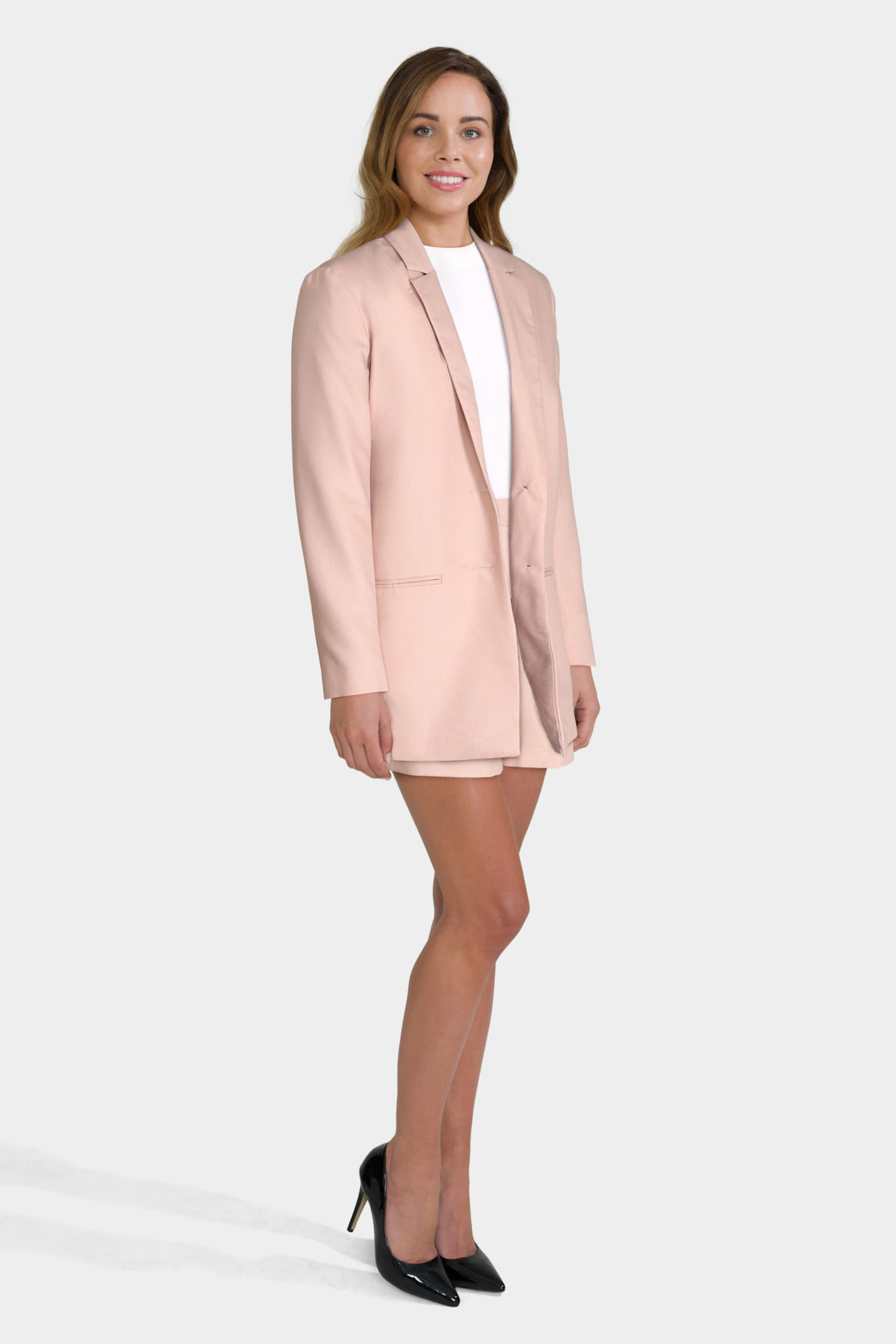 Pink Blazer & Shorts Co-Ord