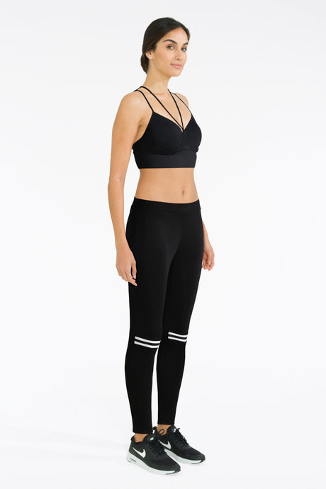 Black Leggings With Sports Bra