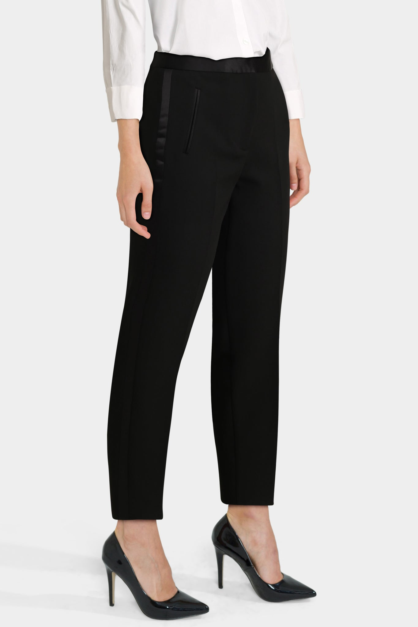 Tuxedo Trousers With Side Trim Detail