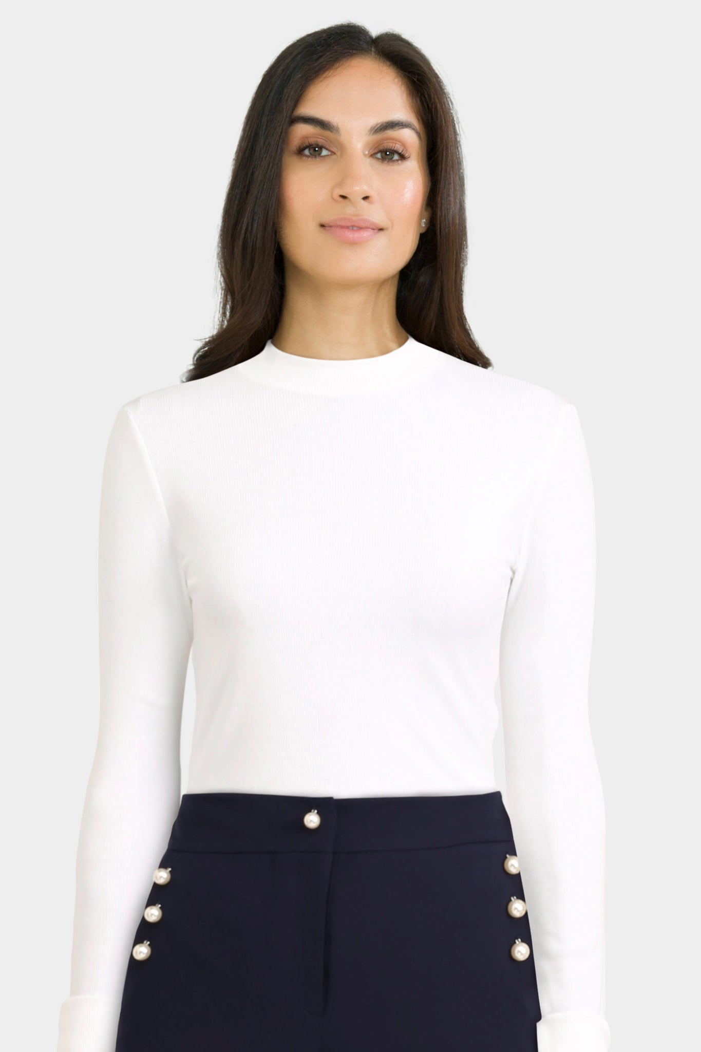 Crop Top With Turtle Neck