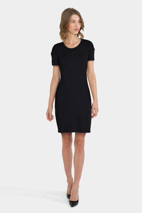 Daily Ritual Women's Supersoft Terry Short-Sleeve Open Crew Neck Dress