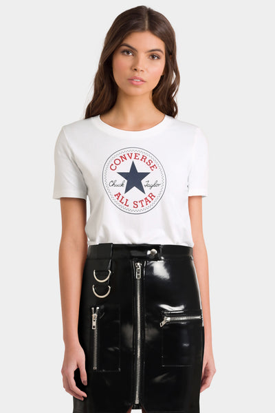 Converse Chuck Logo T Shirt In White