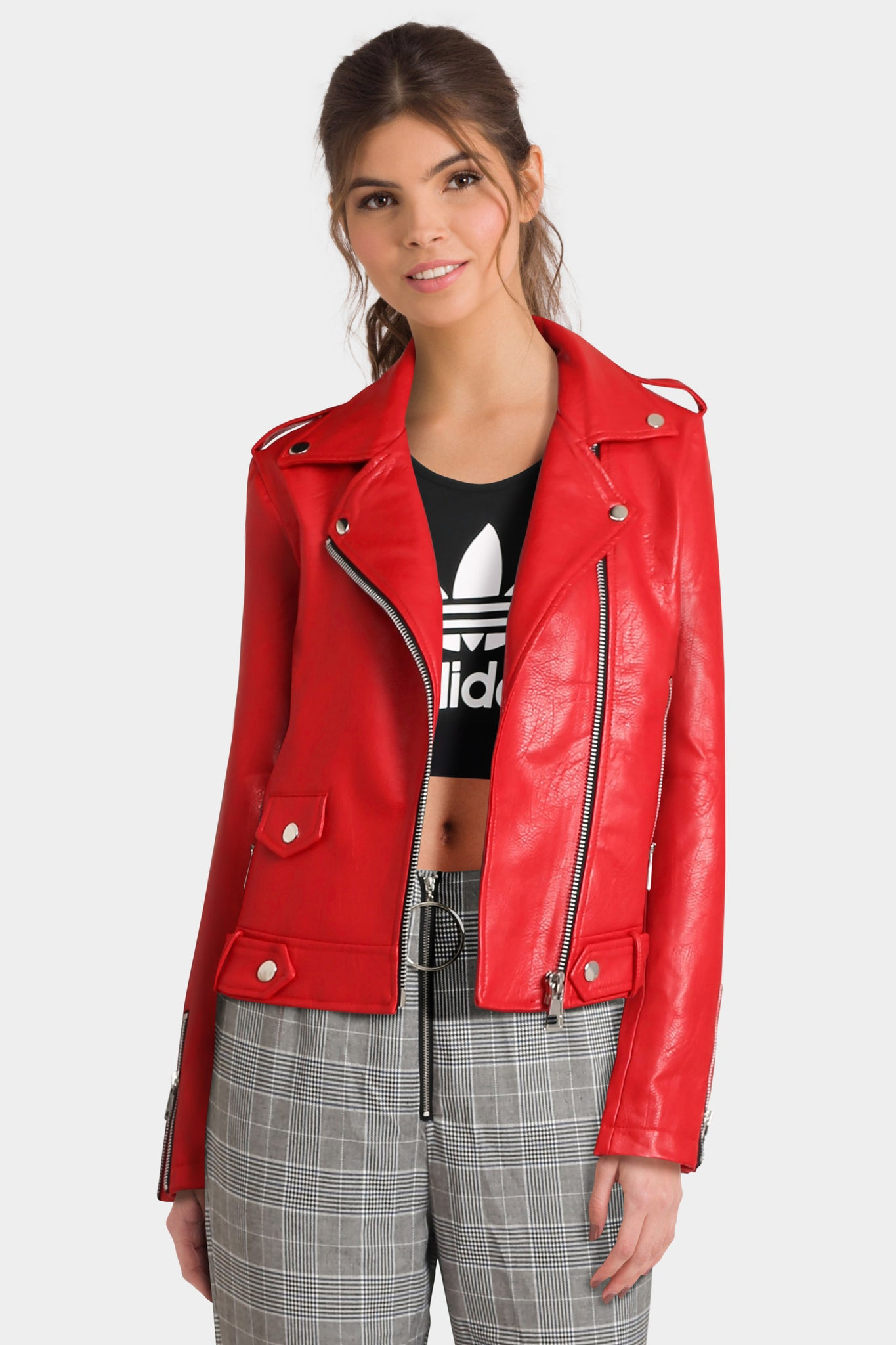 Mango Cropped Biker Jacket