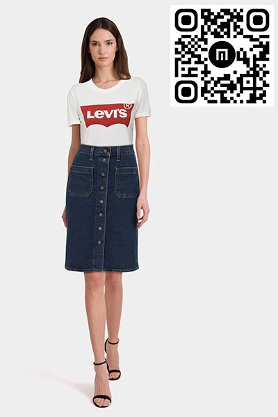 Basic Tee & Midi Denim Skirt