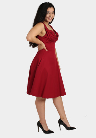 Red Prom Swing Dress