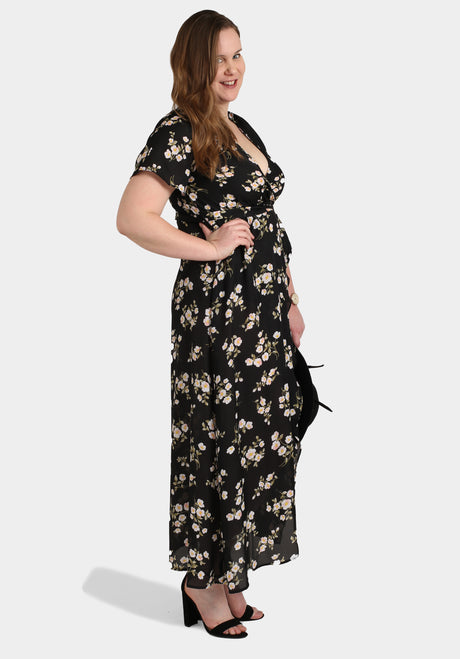 Black Long Floral Dress