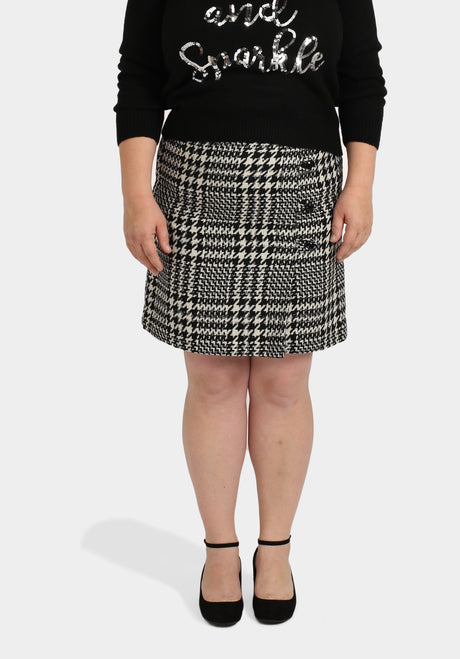 Black & White Check Mini Skirt