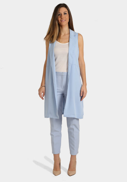 Sleeveless Jacket, Cami Top & Cigarette Trousers