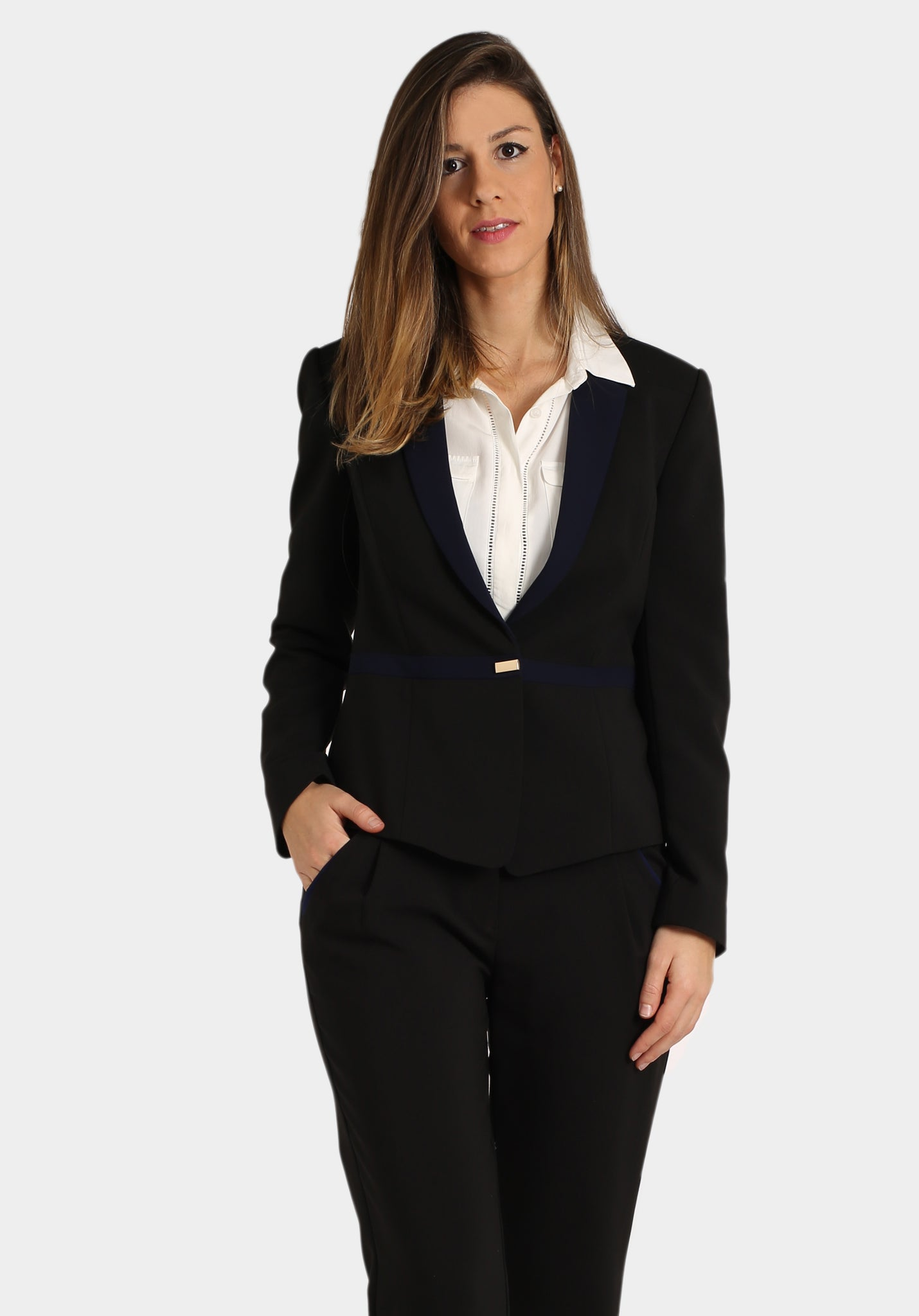Navy & Black Blazer