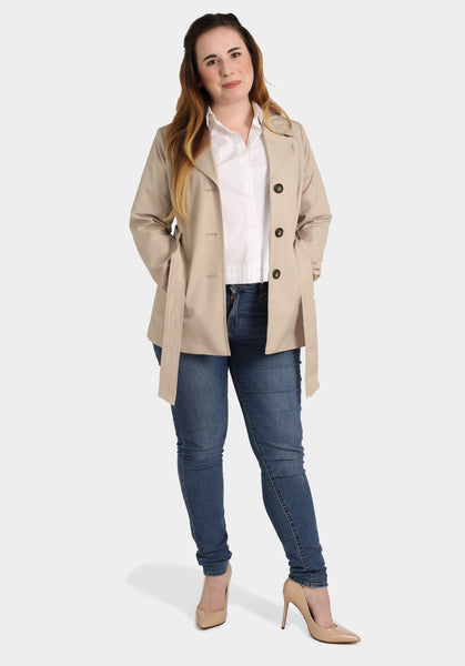 Levis Jeans, Casual White Top & Trench Coat