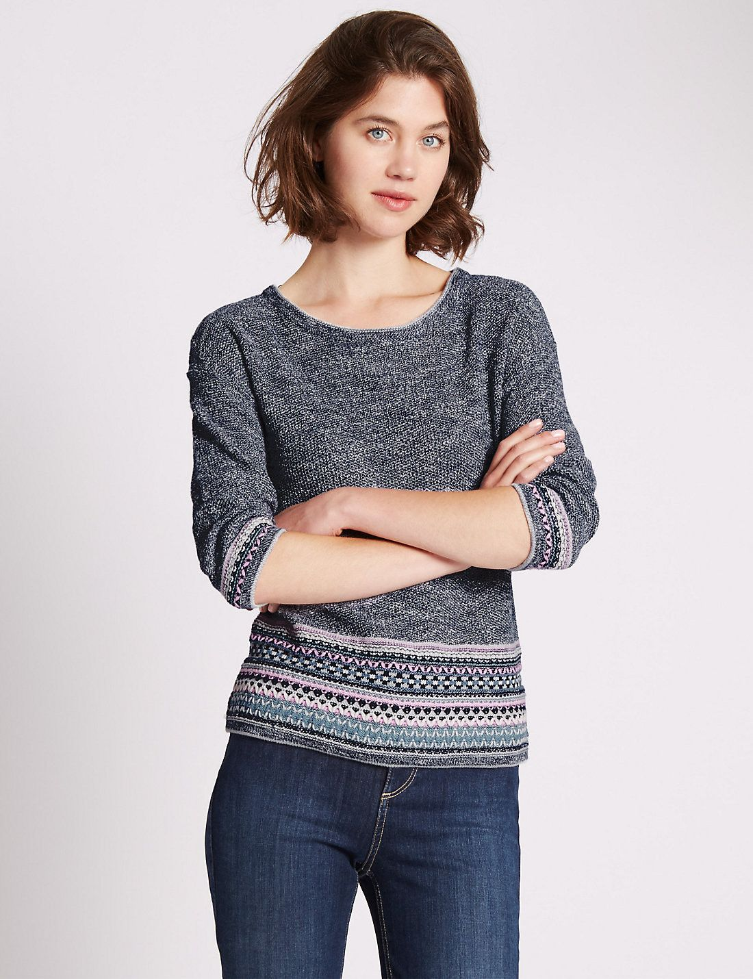 Loose Fit Embroidered Jumper