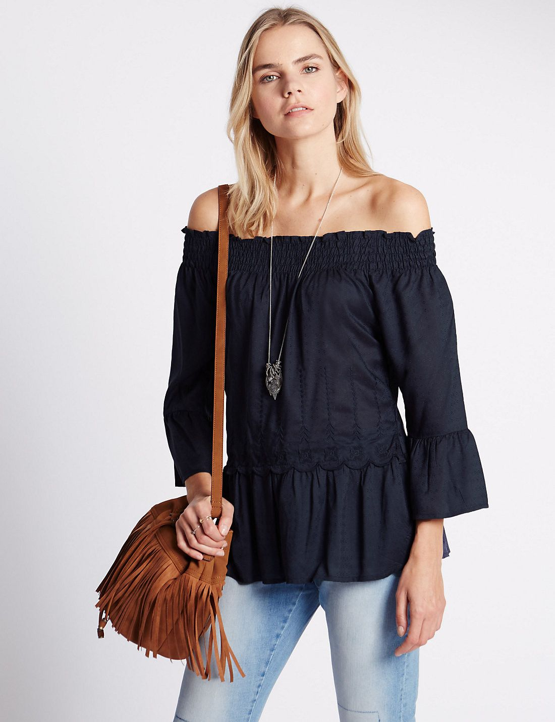 Pure Modal Cold Shoulder Top