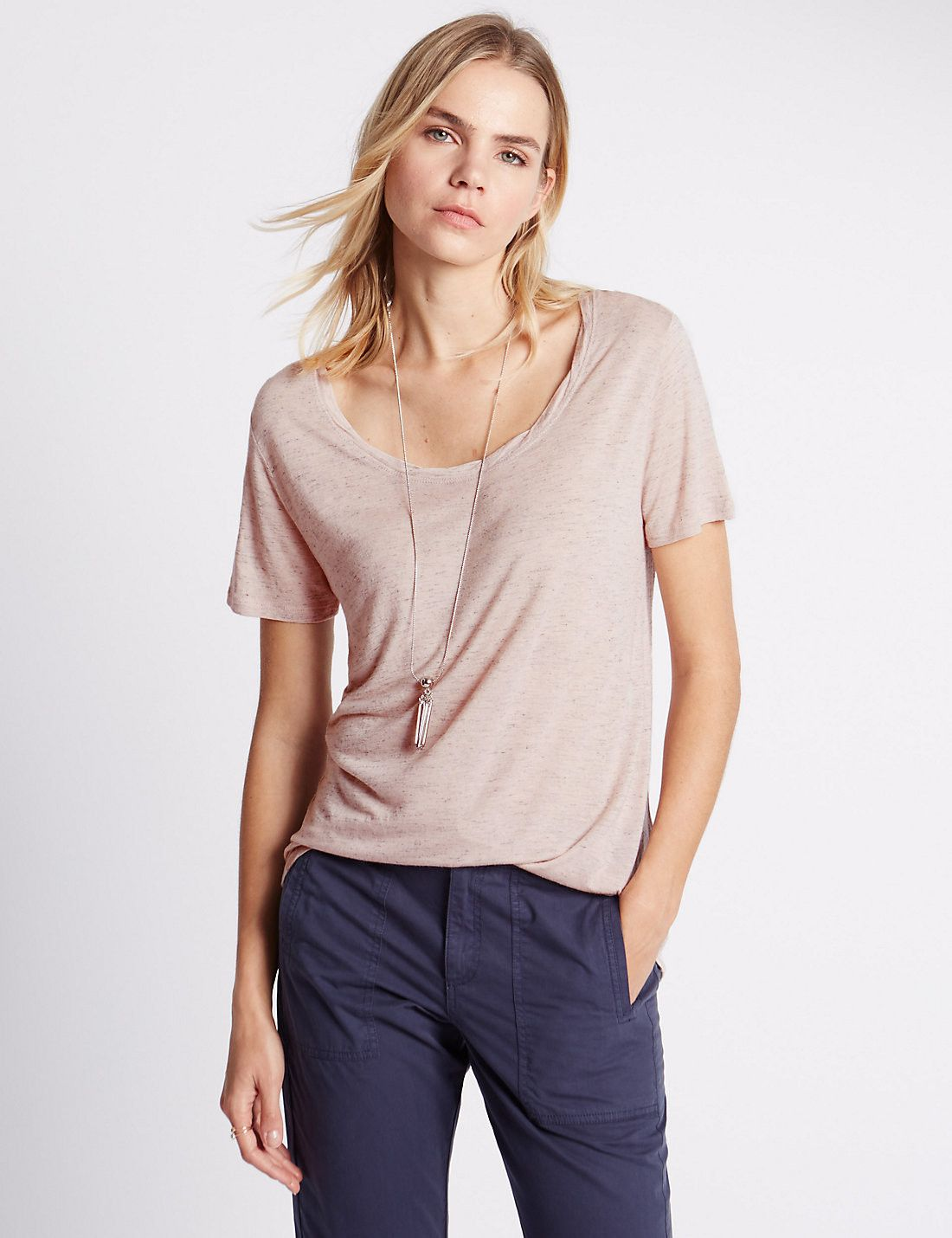 Loose Fit Short Sleeve Wardrobe T-Shirt