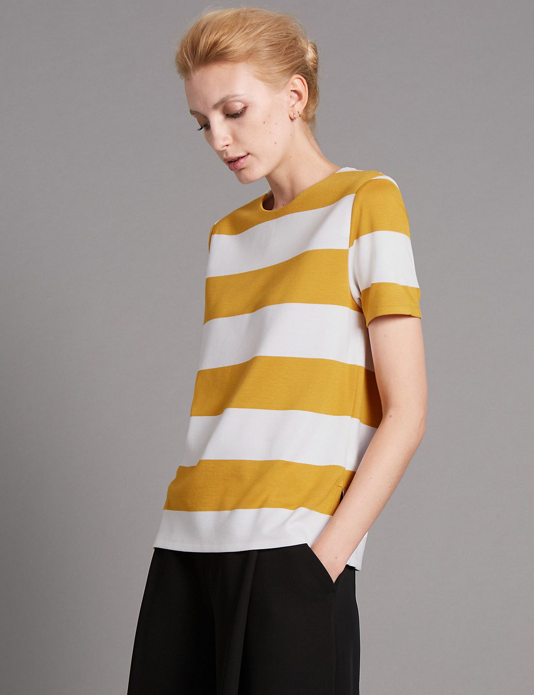 Loose Fit Striped Top
