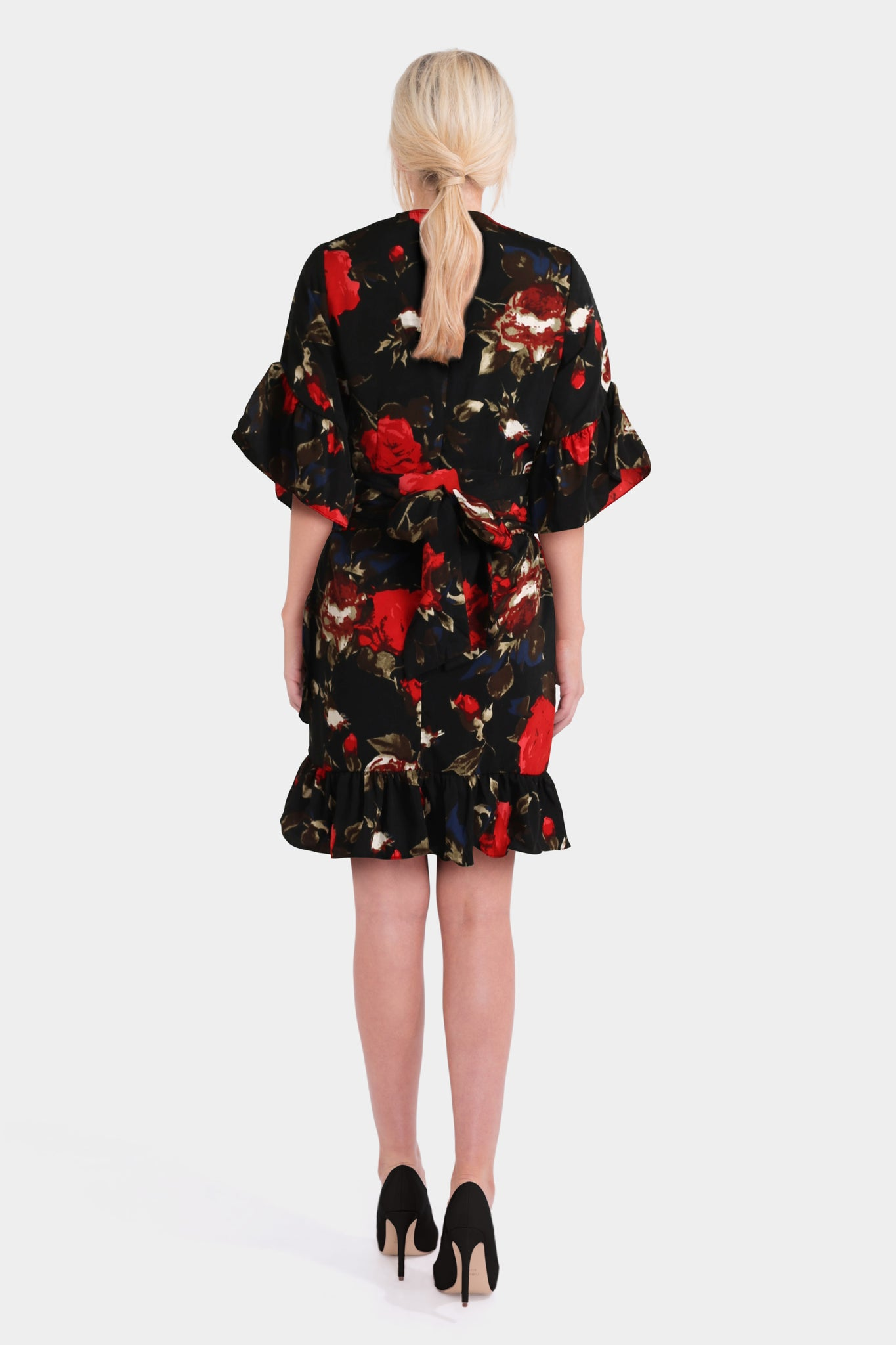 PrettyLittleThing Floral Frill Mini Dress