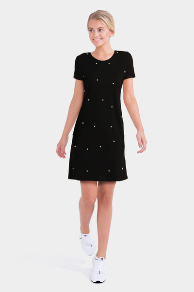 Boohoo Pearl Embellished T-Shirt Dress