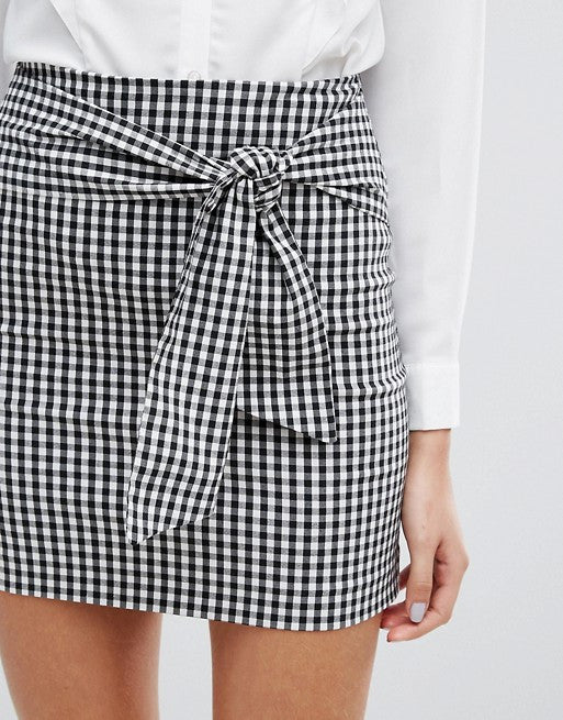 Miss Selfridge Gingham Mini Skirt