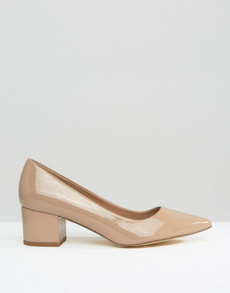 BLOCK HEEL COURT SHOE