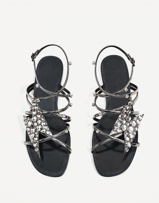 Sandals With Lightning Detail