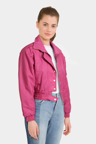 Asos 80's Bomber Jacket in Hot Pink