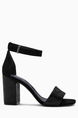 Simple Block Heel Sandals