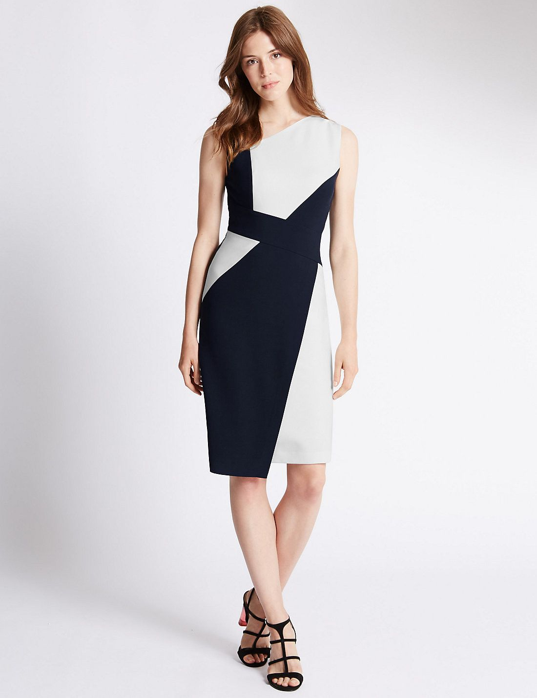 Tailored Fit Panel Shift Dress