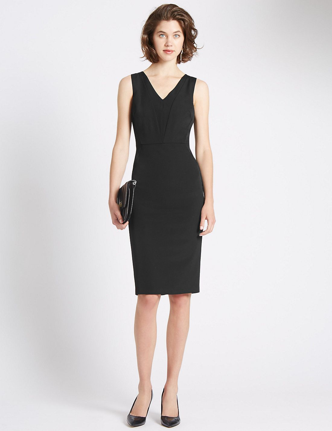 Tailored Fit Seamed Dress