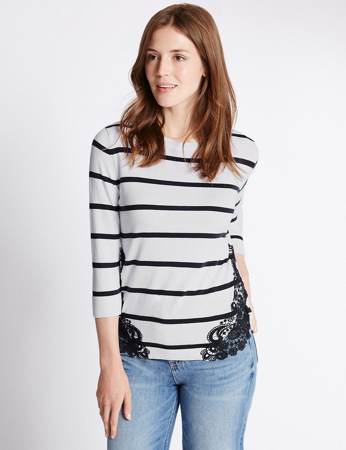 Tailored Fit Striped Jumper