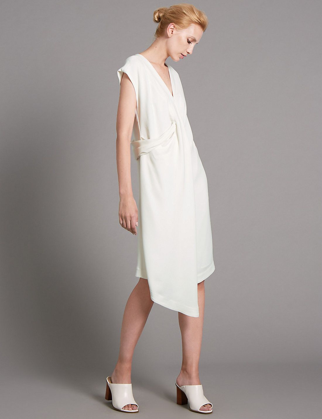 Tailored Fit Twist Front Dress