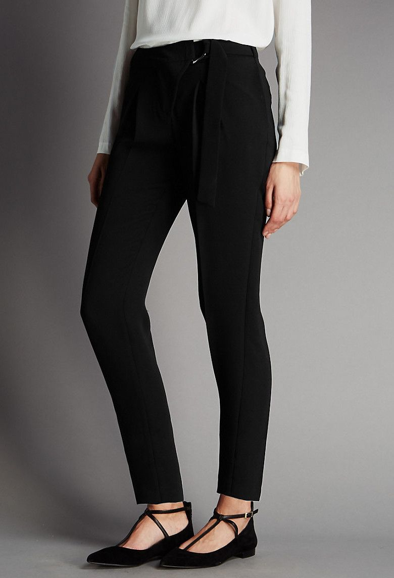 TAPERED LEG DRAPE TROUSERS