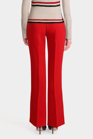 Side Slit Flowy Trousers