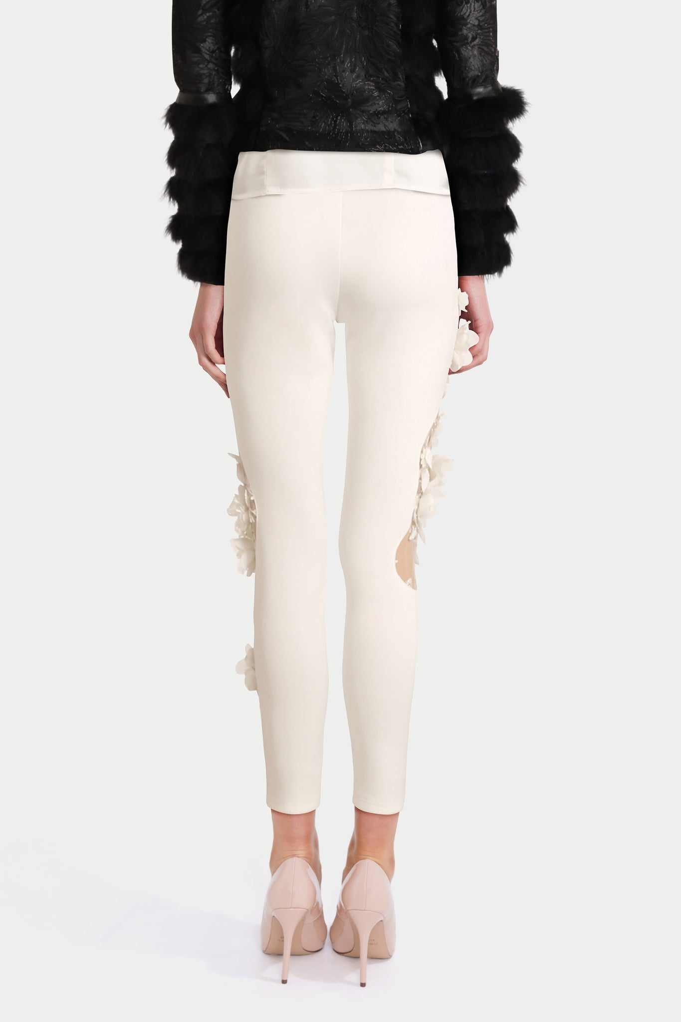 White Soft Scuba Leggings