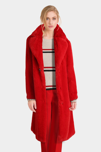 Lapels Faux Fur Coat