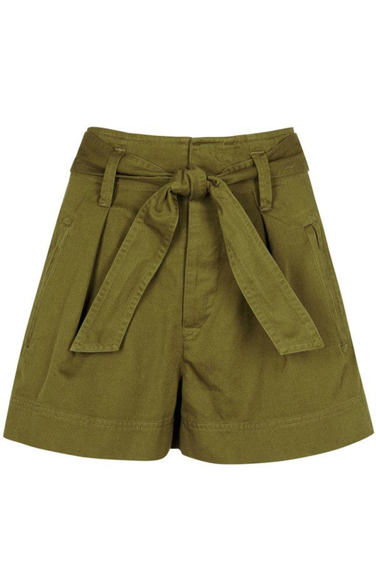 Bow green army shorts