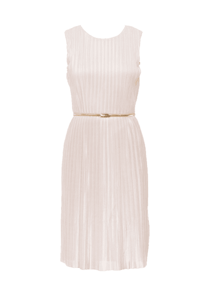 MISS SELFRIDGE GOLD BELTED PLEATED MIDI DRESS